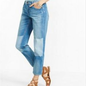 Simply Vera Wang Shadow Patch Cropped Jean's Denim